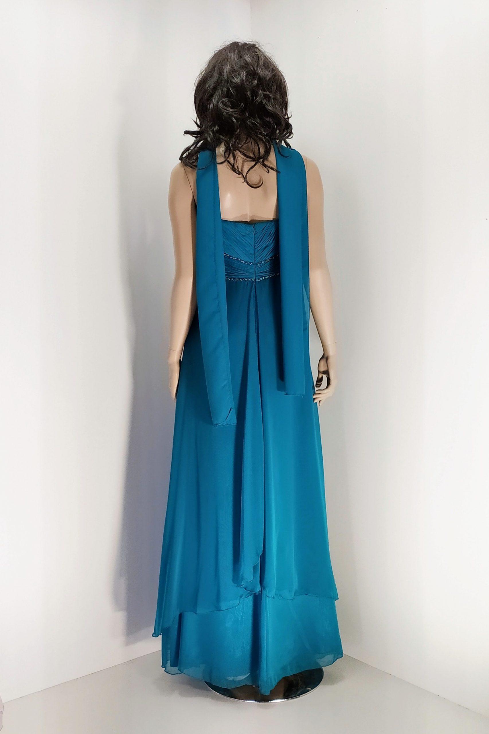 vestido_largo_verde azulado_yasmina_espalda